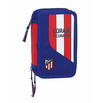 Triple Pencil Case Atlético Madrid Blue (36 Pieces)