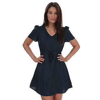 Naiset's Vero Moda yksinkertaisesti helppo lyhythihainen mekko sininen
