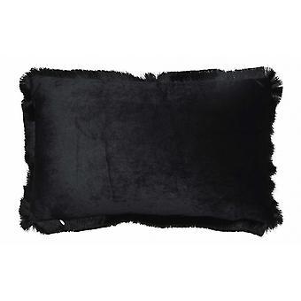 cushion 50 x 30 cm velvet black