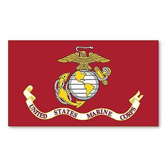 """Magnet, علم Usmc, سلاح مشاة البحرية الأمريكية, 7 بوصة X 4"""""""