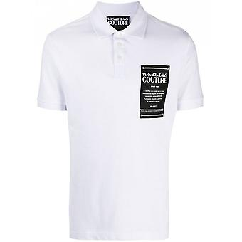 Versace Jeans Couture Cotton White Polo Shirt