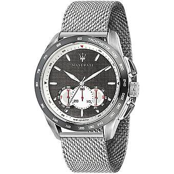 Maserati R8873612008 Men's Traguardo Chronograph Steel Mesh Wristwatch