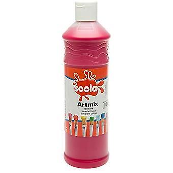 Scola Artmix Ready Mixed Tempera Paint 600ml (Crimson)