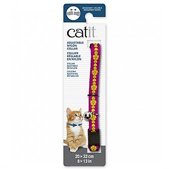 Catit Pink Breakaway Necklace with Flowers