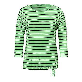 Cecil 315983 Striped Knot Shape T-Shirt, Bud Green, XS Woman