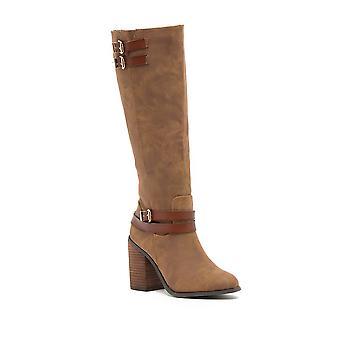 Madden Girl Womens EDREA Almond Toe Mid-Calf Riding Boots