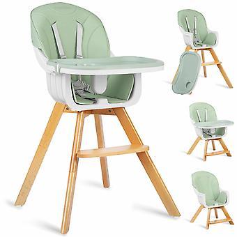 Kinderstoel verstelbaar met houten poten – Mint