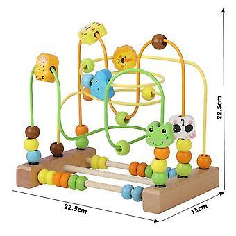 Lasten lelut Montessori Puiset lelut Sokkelo ympyrät ympärillä Beads Abacus Math Toys Puzzle| Matemaattiset lelut