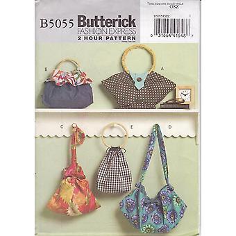 Butterick ompelu kuvio 5055 Fashion Express 2 tunnin kuvio käsilaukut