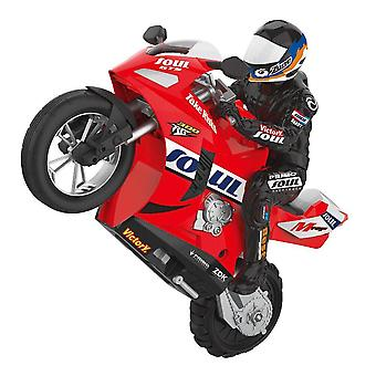 1:6 RC Remote Control Cars Self Balanced Stunt Toy Car Child Electric Motorcycle for Boy Gift(Red)