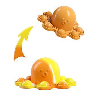 Pop Fidget Lelut 2kpl Avainnippu Mini Kupla Käännä Kaksipuolinen Mustekala Autismiin Lapset Aikuiset Stressinlievittäjä Decompression Lelu