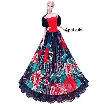 Muoti Nukke mekko puku tyylikäs nainen hääpuku Barbie nukke mekko