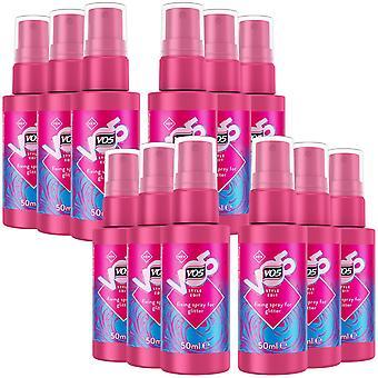 VO5 New Style Edit Fixing Spray For Glitter Hair, 50ml - 12Pk