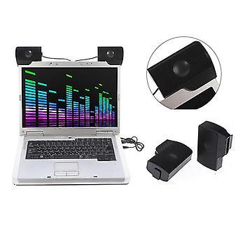 Bärbar bärbar dator Mini Clip-on Usb Två stereohögtalare, Multimedia Sound Bar