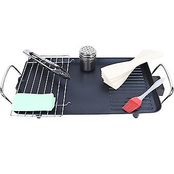 Electric Table Top Grill Griddle Bbq Hot Plate