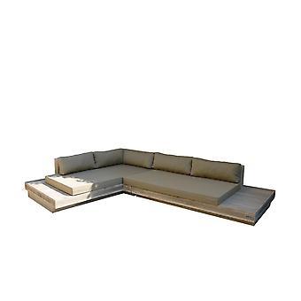 Wood4you - Loungeset 12 Steigerhout 300cm/250cm incl kussens (GL-vorm)