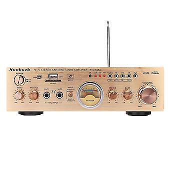 Sunbuck TAV-505A 600W Stereo VU Meter 2 Kanaals 4 ohm Eindversterker Ondersteuning FM USB SD met Afstandsbediening