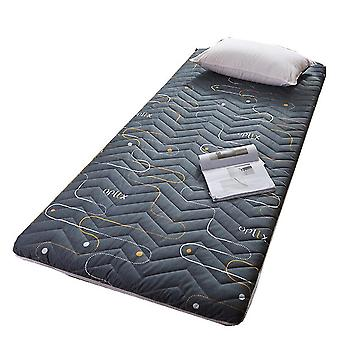 Dark gray 120*200cm thick non-slip foldable mattress breathable comfortable elastic mattress homi3832