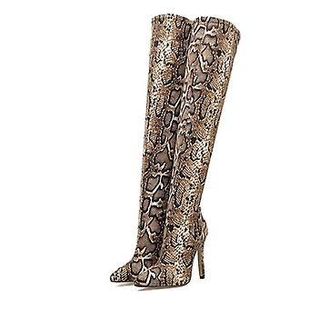 High Heels, Pointed Toe Zip Over Knee Boots