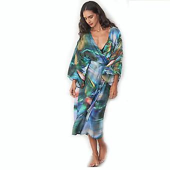 Elastic Bikini Cover Up Suncreen Printed Beachwear Cardigan