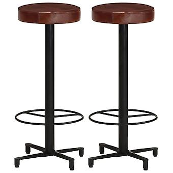 vidaXL bar stool 2 pcs. 76 cm real leather