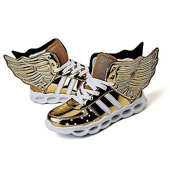 Boy Girl Sneakers With Wheels Become Sport Sneaker With Led