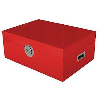 Hieno aasialainen, thaimaalainen säilytyslaatikko punainen