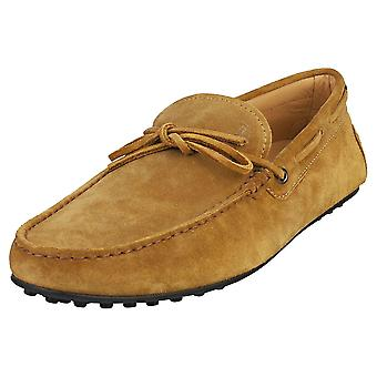 TOD'S Gommino Mens Loafer Shoes in Light Brown