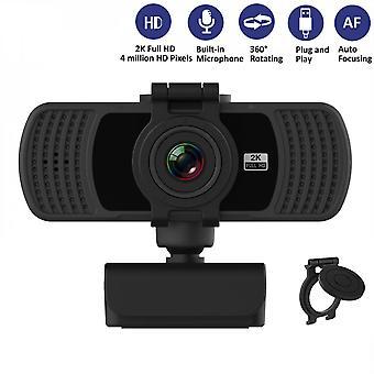 Webcam hd de 2k com microfone