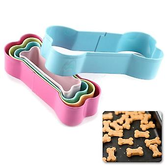 5Pcs stainless steel biscuit cutter mold dog bone shape cookie cutter set for kids suitabel for cake and cookie decorating tools