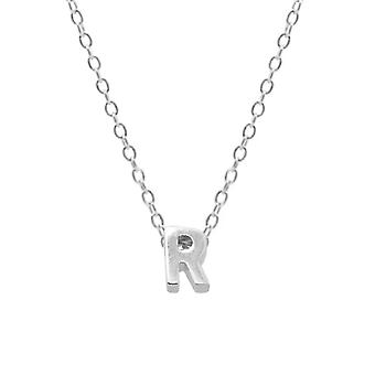 Sterling Silver Letter Round Choker Necklace, Minimalist Fine Jewelry(SILVER R)