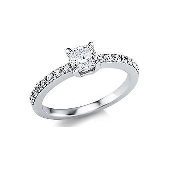 Луна Творение Пасьянс Промесса кольцо с боковой отделкой 1W129W852-2 - Ширина кольца: 52