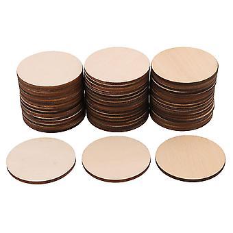 Handwerk Holzformen 50 Stück 50x3mm unfertige runde Kreise Ausschnitte Holz ornament handwerk