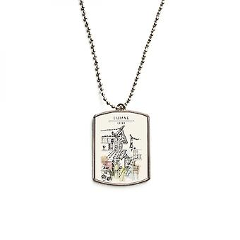 A Busy Street In Lijiang Stainless Steel Pet Tag Pendant