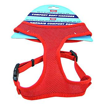 """Coastal Pet Comfort Soft Adjustable Harness - Red - Small - 3/4"""" Wide (Girth Size 19""""-23"""")"""