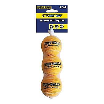 Petsport Jr. Tuff Ball Squeak Dog Toy - 3 Pack