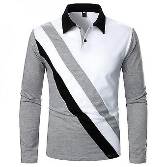 Mens Casual Long Sleeve Polo Shirts Business Tops Blouse Pullover Tunic T-shirt