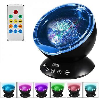 Relaxing Ocean Wave Music Led Night Light Projector Remote Lamp Baby Sleep Gift Starry Sky Projector Night Light In Bedroom