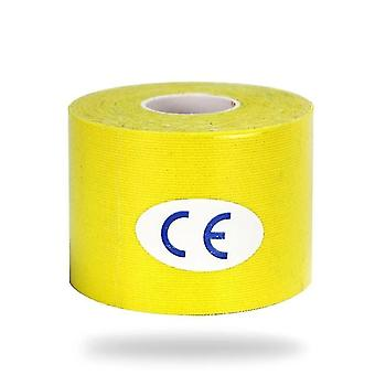 Medical tape bandages kinesiology elastic tape for athletic recovery and pain relief yellow
