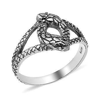TJC Silver Snake Ring for Womens 925 Sterling Stamped Animal Lover Gift(U)