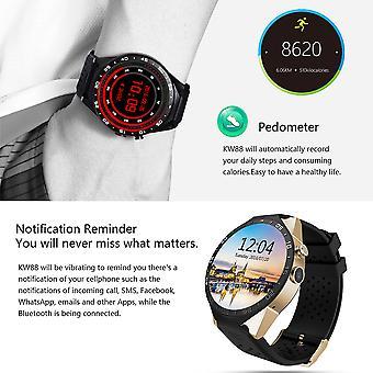 الملك ارتداء ساعة ذكية عداد الخطى جهاز معدل ضربات القلب الأسود تشويه / الذهب الأسود