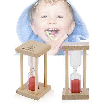 ساعة رملية خشبية ساندجلاس ساعة توقيت للأطفال بالفرشاة 1/5minutes