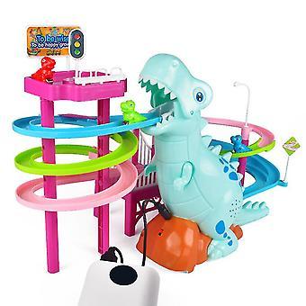 Qian Penguin Race Spielzeug-Rennstrecke mit Spinning Gear Bausets für Kinder