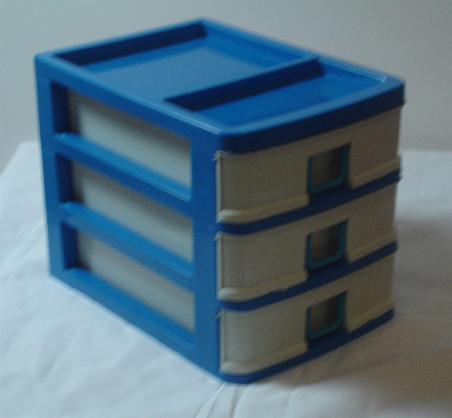 3 Drawer Sewing Box Storage Container Pink Knitting Plastic Needle