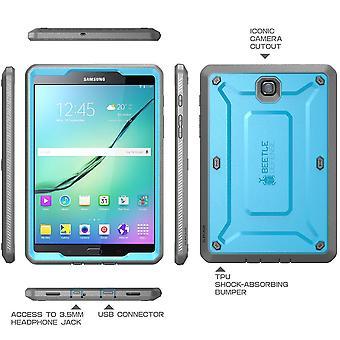 Galaxy Tab S2 9,7, Supcase, Samsung Galaxy Tab S2 9.7, Einhorn Käfer Pro, Screen Protector-blau/schwarz