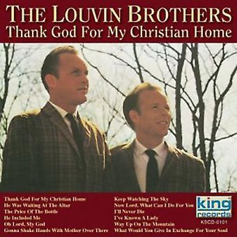 Louvin Brothers - tack gode Gud för min kristna hem [CD] USA import