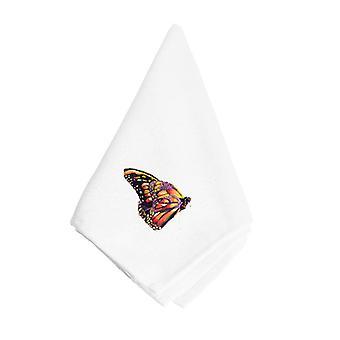 Carolines Treasures  8858NAP Black and Orange Butterfly Napkin