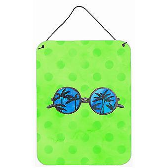 Lunettes de soleil vert Polkadot mur ou porte suspendue imprime