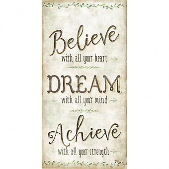 Believe Dream Achieve Poster Print by Mollie B (9 x 18)