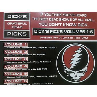Grateful Dead Dicks Picks Volume 1-6 Poster